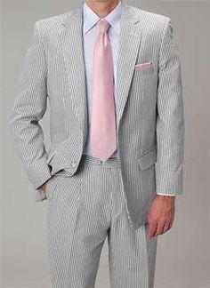 Affazy Black Seersucker Suit with lavender