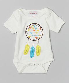 Cuddlestar White Dream Catcher Bodysuit - Infant by Cuddlestar #zulily #zulilyfinds