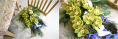 orchids at london wedding, violets and velvets florist