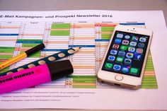 Turned on Iphone 5 on Prospekt Newsletter 2016  Free Stock Photo