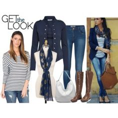 Get the look Nautical stripes