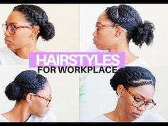 Are you looking for natural hair hairstyles to wear to the office. In this, video I share four hairstyles for the work place. These hairstyles are perfect fo. Teenage Hairstyles, Older Women Hairstyles, Girl Hairstyles, Little Girl Box Braids, Girls Braids, Curls For Long Hair, Short Hair Updo, Short Hair Styles Easy, Natural Hair Styles