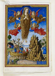 Be warned, however: not all hairy ladies are Mary of Egypt. Mary Magdalen, who was also construed as an ex-prostitute in some medieval accounts of her life, was sometimes depicted with long hair, as seen in the Sforza Hours.