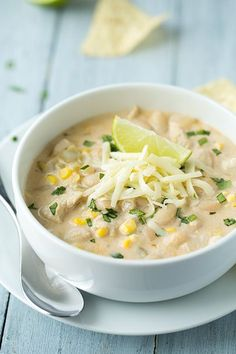 White Chicken Chili - love this version of chili, much different from the other but so good!