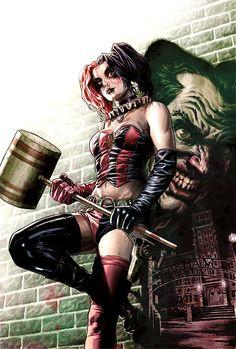 Harley Quinn art by Lee Bermejo