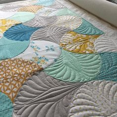 """74 Likes, 5 Comments - Jenny Pedigo (@jennyscreativeplace) on Instagram: """"Quilting these shells up with no start and stops! Love when I can figure that out!…"""""""