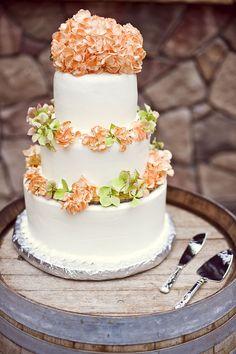 wedding cake on a barrel. yes please