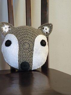 Sweet Silver Fox Pillow. $25.00, via Etsy.