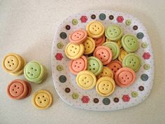 Button Biscuits - How great are these for sewing themed cookies!