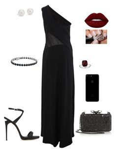 """""""Prom Memories"""" by sugar-addicted95 ❤ liked on Polyvore featuring Alberta Ferretti, Giuseppe Zanotti, Christian Louboutin, Lime Crime and Blue Nile"""