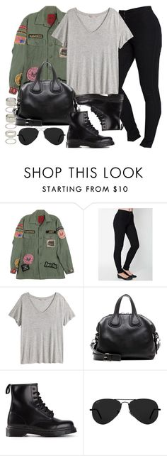 """""""Style  #10962"""" by vany-alvarado ❤ liked on Polyvore featuring MadeWorn, H&M, Givenchy, Dr. Martens, Ray-Ban and Forever 21"""