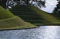 Jupiter Artland – A Garden of Discovery Scotland Charles Jencks' Life Mounds by gardendesigntravels, via Flickr