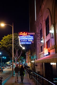 Los Angeles' history echoes at Cole's, originator of the French Dip Sandwich, housed since 1908