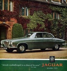 1964 Jaguar Mark Ten Saloon Original Color Ad | eBay
