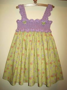 Etsy-No Longer Available But I Can Figur - Diy Crafts - knittingo Crochet Toddler, Crochet Baby Clothes, Crochet Girls, Crochet For Kids, Crochet Dresses, Col Crochet, Crochet Fabric, Baby Dress, The Dress