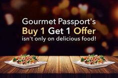 Download the Gourmet Passport App and get the best food deals at top most restaurants in Delhi NCR with buy 1 get 1 offer . What are you waiting for? Download now.