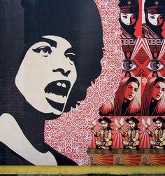 shepard fairey | los angeles #ClippedOnIssuu from World atlas of street art and graffiti, the schacter, rafael