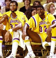Kareem Abdul Jabbar and Magic Johnson