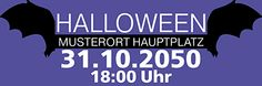 #Halloween Werbebanner von www.onlineprintxxl.com #onlineprint #xxl #werbebanner #fledermaus #trickortreat
