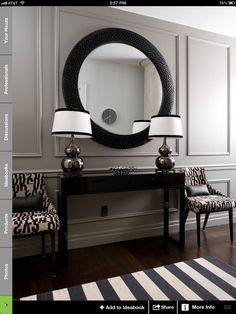 I don't normally like black & white but this entryway is nice