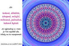 Mandala Tvá výjimečnost je Tvá síla | Mandala na každý den Favorite Quotes, Beach Mat, Outdoor Blanket