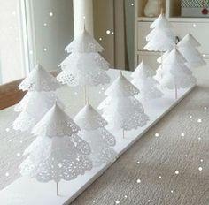 レースペーパーで作るクリスマスツリー クリスマス