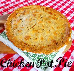 Blooming on Bainbridge: Easy Chicken Pot Pie Homemade Chicken Pot Pie, Chicken Recipes, Pie Recipes, Popular Recipes, Great Recipes, Favorite Recipes, Good Food, Yummy Food, Recipes