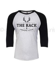 Deer Shirt - Country Boy Deer Raglan - All About the Rack - Deer Antler Men's Top - Hunting Shirt for Men - Country Style Gifts for Men by GypsyJunkClothing