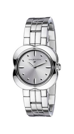Chance Day watch by Mauboussin, in stainless steel and silver sunray dial.