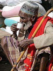 Somali man wearing a Macawis sarong.