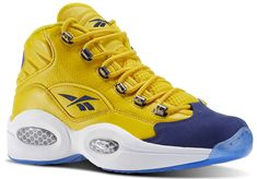 9fe1abf8278 Details about Reebok Question Mid Iverson Basketball Sneaker Men s Athletic  Blue Toe BRAND NEW