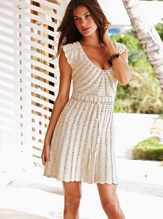 Here is another great pattern: crochet dress byVictoria's Secret  The original dress was offered in internet only and sold a while ago. But if you like to crochet, it's not a problem …