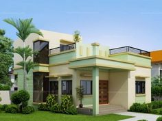 ultra modern beach house floor plans with 2 storey house structural design with single story house pictures Modern Zen House, Modern Minimalist House, Modern House Plans, Zen House Design, 2 Storey House Design, Deck Design, Small Cottage Designs, Two Storey House Plans, Two Story Homes