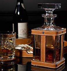 Ralph Lauren Leather-and-Crystal Decanter ($395).