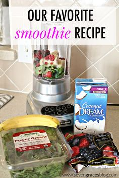 Easy smoothie recipe for toddlers to sneak in the veggies.