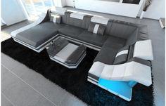 Superb Wohnlandschaft TURINO U Form aus mit Beleuchtung Multifunktionale und optionale in der Ideal auch f r das zuhause Exklusiv von Dreams