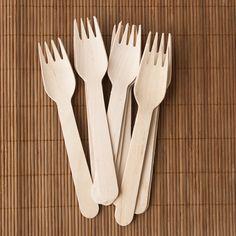 6.5 in. Wooden Forks (100/pack)