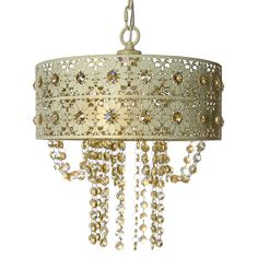 River of Goods Jeweled Blossoms Crystal Chandelier