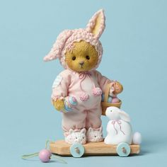 Cherished Teddies On the Hunt for a Happy Easter Linley Bear Figurine 4044690 #Enesco