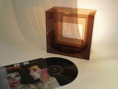 vintage transparante LP box platen box vinyl door ProfessorVintage