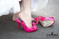 awesome #hot pink #wedding shoes!