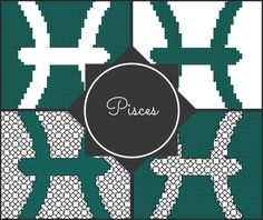 Pisces Zodiac Pattern Blocks