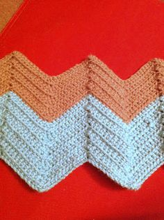 How to crochet a chevron or zigzag pattern. It's actually really easy, and this guide is helpful.