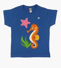 Camiseta Caballito de mar y estrella Camiseta niño clásica  19,90 € - ¡Envío gratis a partir de 3 artículos! Kids Fun, Cool Kids, Seahorses, Sweatshirts, Sweaters, Clothes, Ideas, Fashion, Scrappy Quilts