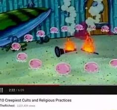 I didn't know jellyfish dancing around a burning clarinet was a cult practice. Who knew! Dead Memes, Dankest Memes, Funny Memes, Hilarious, 420 Memes, Spongebob Memes, Spongebob Squarepants, Pineapple Under The Sea, Stupid Memes