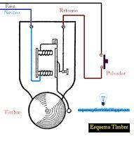 Esquemas eléctricos: Esquema eléctrico conexión de timbre