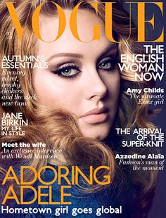 Adele on the cover of Vogue.