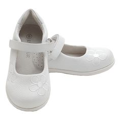 Too cute for words your toddler little girl will be in these darling mesh Mary Jane girls shoes.  Hook-and-loop closure for an adjustable and secure fit.  These darling shoes are flexible and lightweight.  A great shoe to hit this spring or summer season