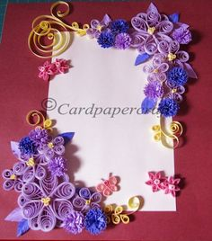 Decorated Frame with Quilling