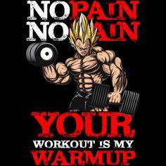 No Pain No Gain.Inspiring Workout and Fitness Gym Motivation Quote Illustration. Fitness Workouts, Fitness Tips, Fitness Logo, Dbz, Goku Saiyan, Dragon Ball Z, Manga Dragon, Gym Logo, Warrior Quotes